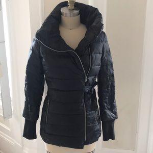 Benetton asymmetrical fashion forward puffy jacket